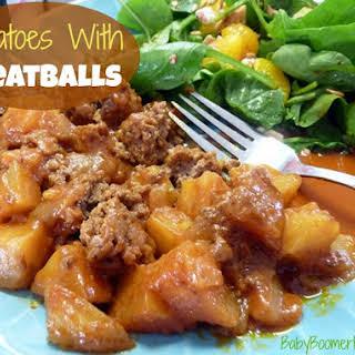 Potatoes With Meatballs.