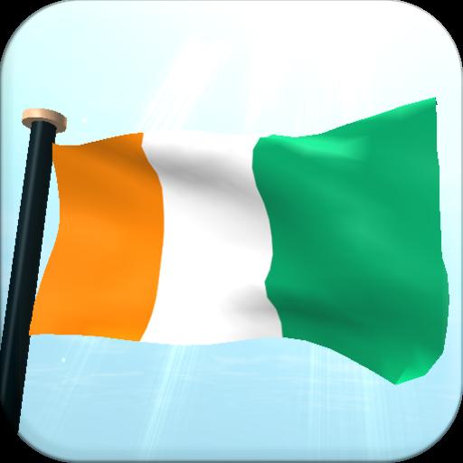 Côte d'Ivoire Flag 3D Free