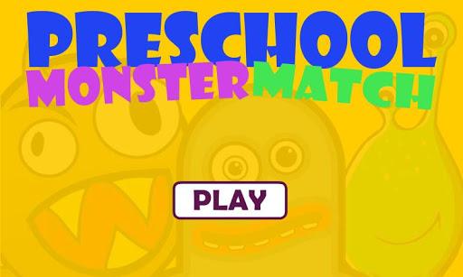 Preschool Monster Match Free