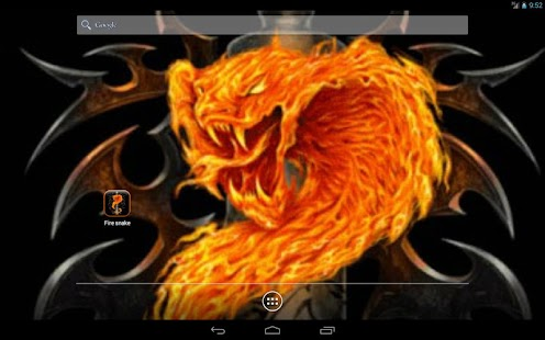 Fire snake Live Wallpaper - screenshot thumbnail