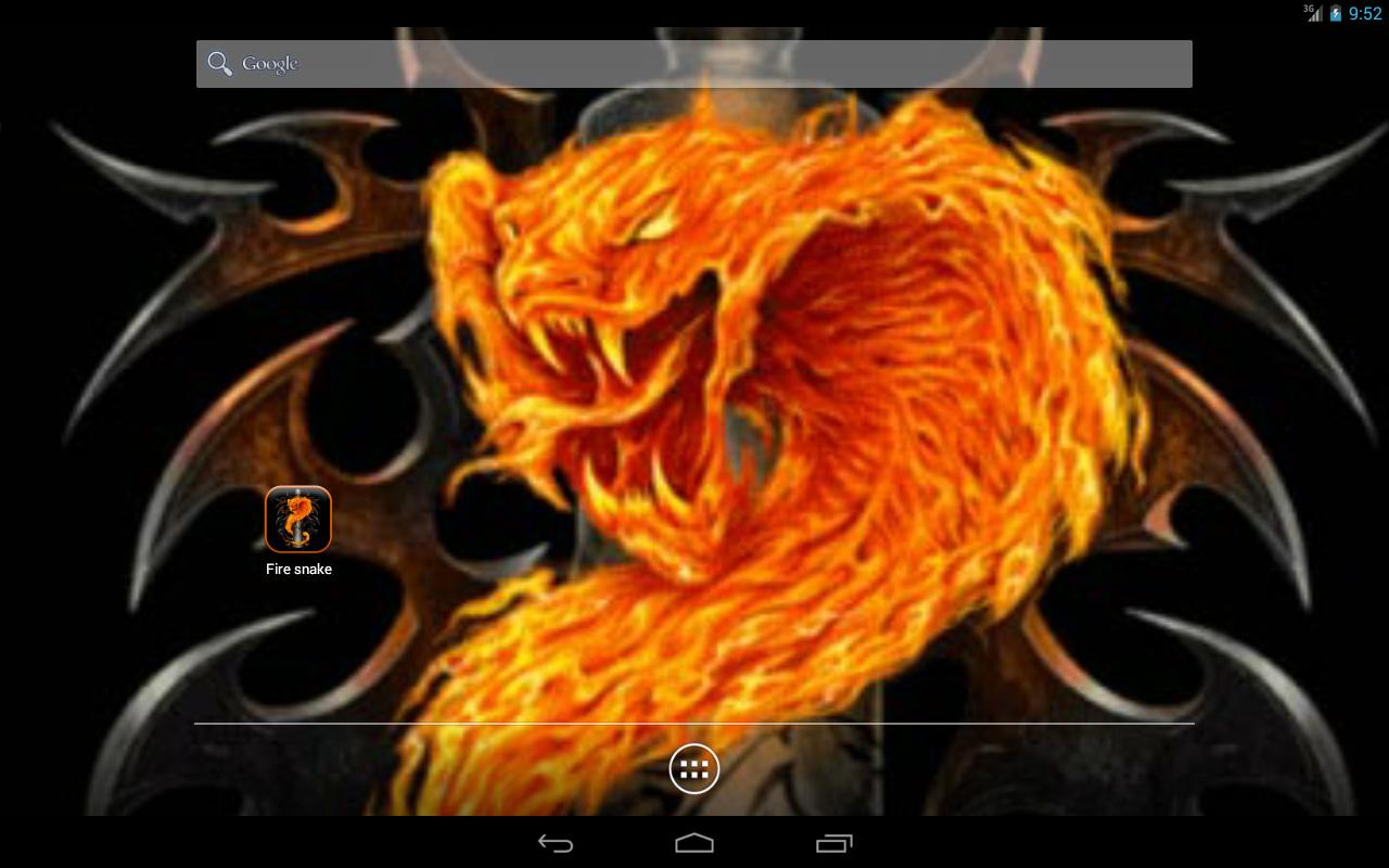 Fire snake Live Wallpaper - screenshot