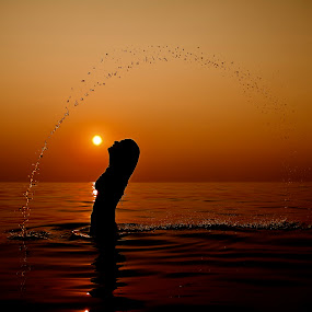 Summer sunset in GREECE II by Giannis Paraschou - People Street & Candids ( summer sunset in greece ii, color, colors, landscape, portrait, object, filter forge, , Emotion, human, people, silhouette, Free, Freedom, Inspire, Inspiring, Inspirational )