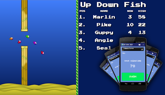 Up Down Fish - Chromecast Game