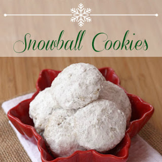 Toffee Almond Snowball Cookies for #CookieWeek