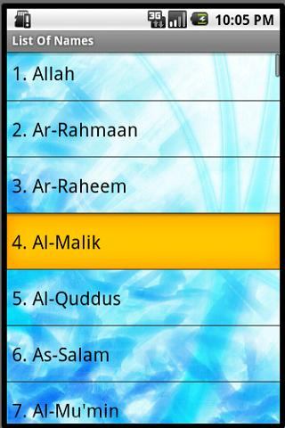 99 Names Of Allah (Android) reviews at Android Quality Index