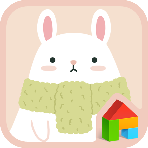 個人化必備App|rabbit and carrot dodol theme LOGO-綠色工廠好玩App