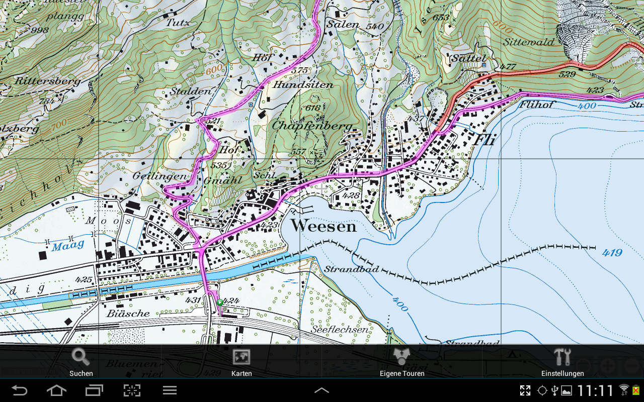 GPS-Tracks für Android – Screenshot