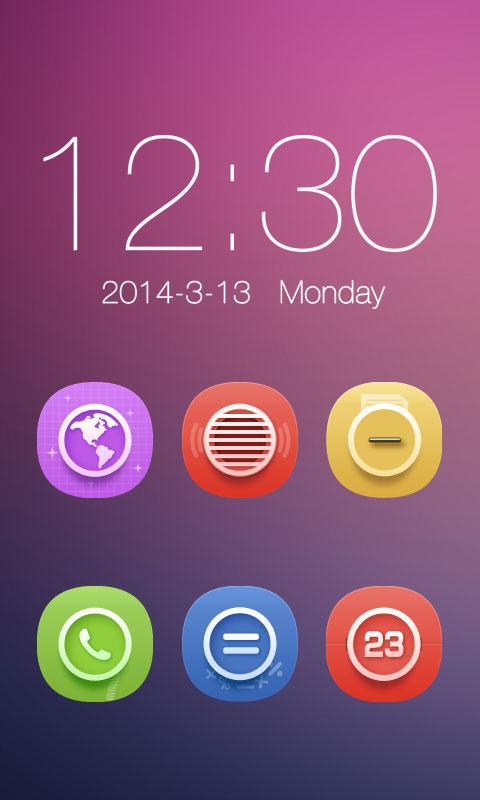 Level Color_Turbo EX Theme - screenshot