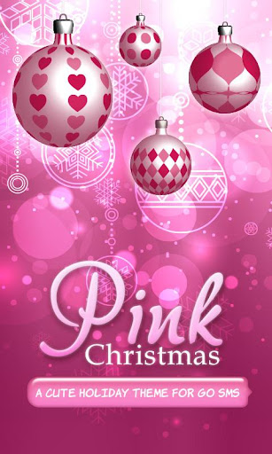 ♥ ピンクのクリスマスのテーマ SMS