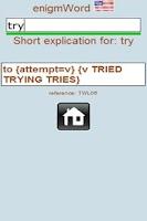 Screenshot of enigmWord English