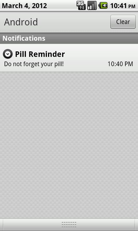 Pill Reminder - screenshot