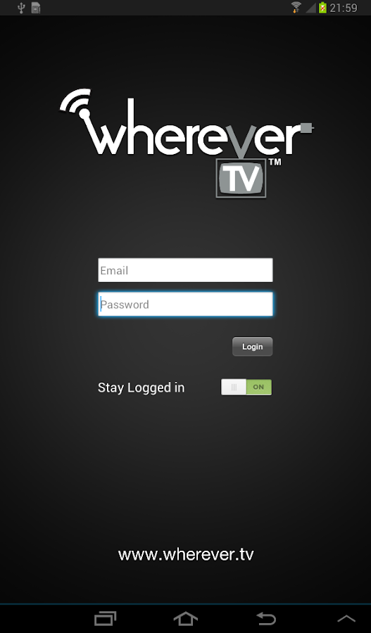 WhereverTV - screenshot