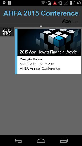 AHFA 2015 Conference
