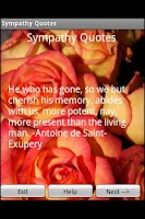 Screenshot of Sympathy Quotes