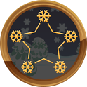 Kid connect dot christmas icon