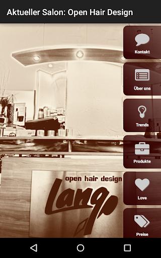 open hair design Lang Friseure