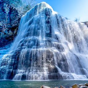 Burgess Falls by Stephanie Turner - Landscapes Waterscapes ( water, waterfalls, landscape photography, nature photography, landscape, waterscapes )