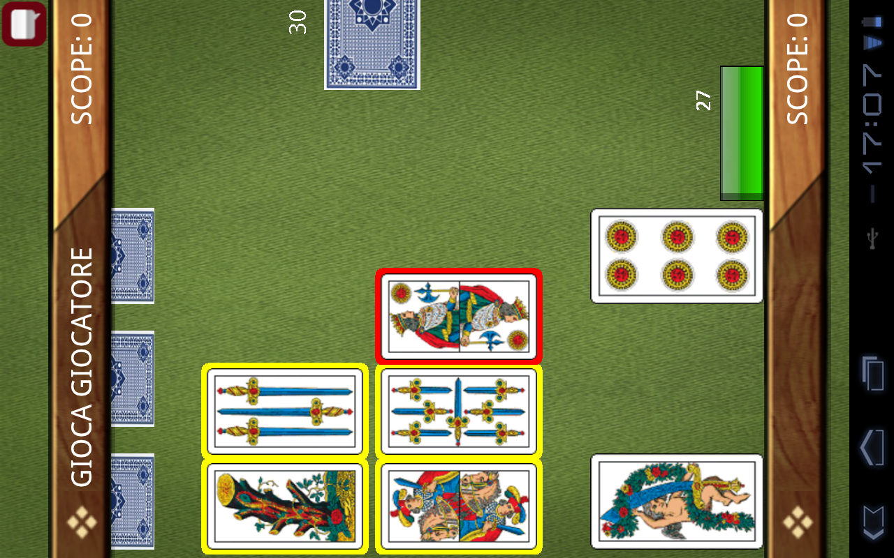 AssoPigliaTutto e Scopa- screenshot