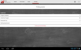 Screenshot of Prüfung WiSo