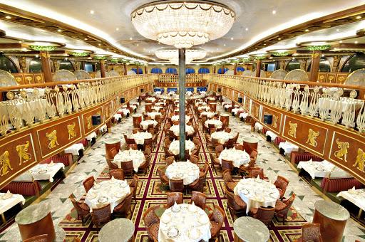 Carnival-Spirit-empire-restaurant - Carnival Spirit's expansive Empire Restaurant evokes the elegance of ages past.