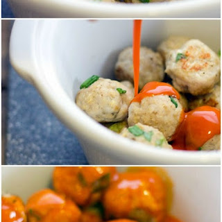 Slow Cooker Buffalo Chicken Meatballs.