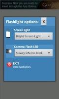 Screenshot of LED Flashlight with blink
