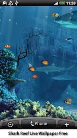 Shark Reef Live Wallpaper Free Screenshot 4