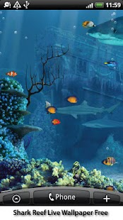 Shark Reef Live Wallpaper Free Screenshot 4