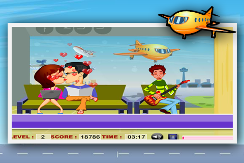 Airport Kiss Game - screenshot