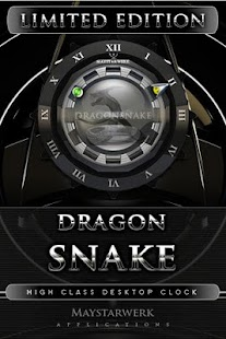 Dragon Snake clock widget - screenshot thumbnail