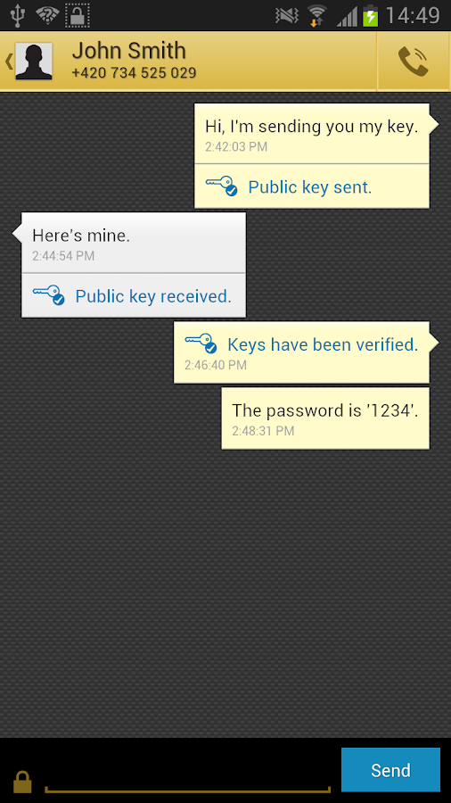 Babel - Encrypted Messaging - screenshot