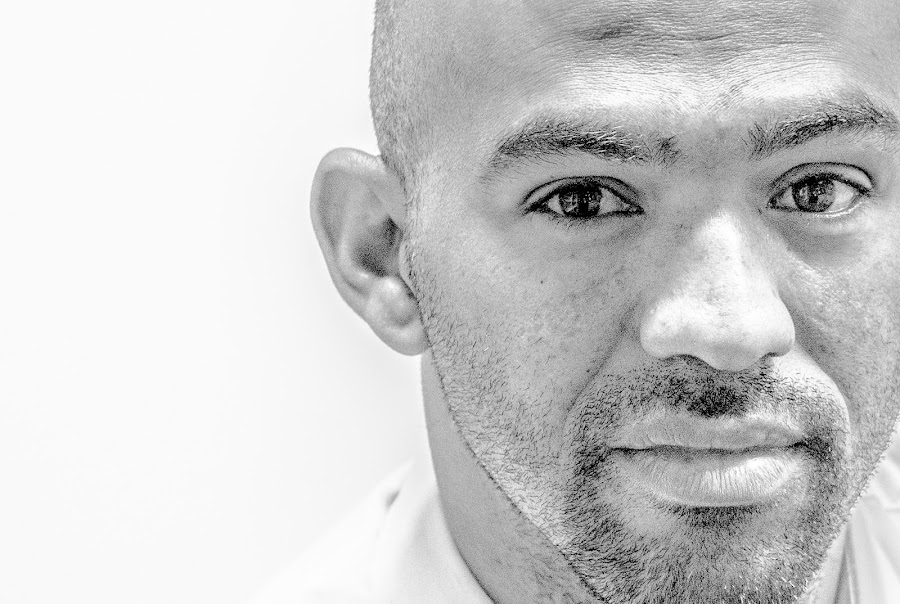 Ed by ReyRay Sayoux - People Portraits of Men ( face, negative space, latin, black and white, rule of third, male, cropped, portrait,  )