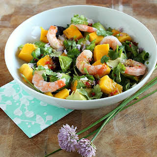 Prawn, Avocado & Mango Salad with Thai Dressing.