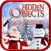 Hidden Objects Santa & Snowmen