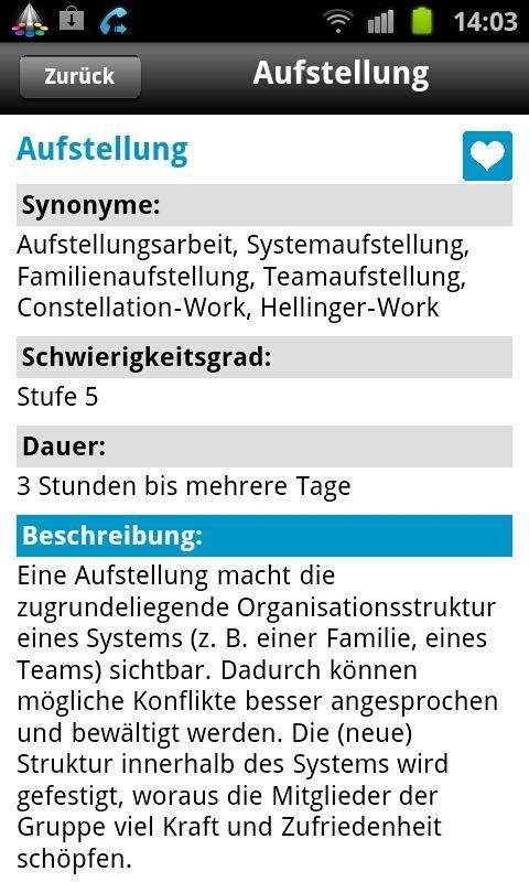 Lexikon der Mentaltechniken – Screenshot