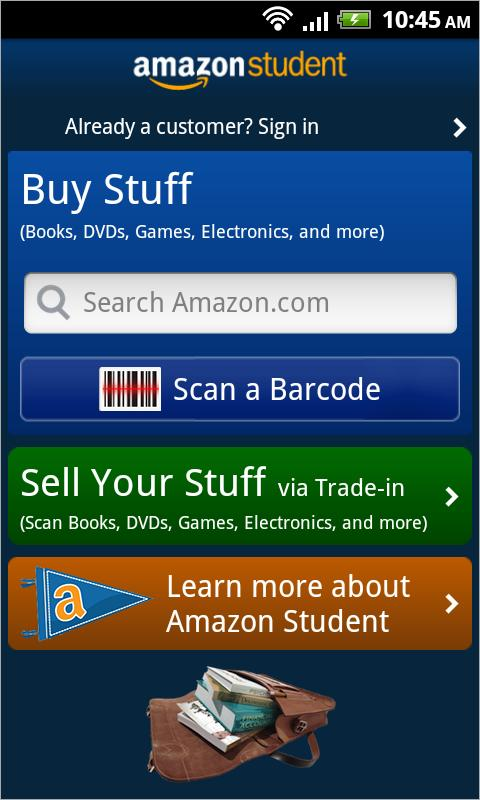 Amazon Student - screenshot