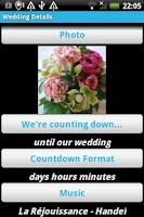 Screenshot of Wedding Countdown