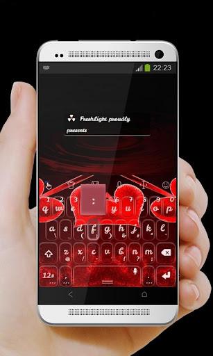 玩個人化App レッドハーツキーボード免費 APP試玩