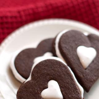 Chocolate Marshmallow Linzer Cookies