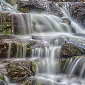 Russell Burn by John Ash - Landscapes Waterscapes ( applecross, scotland, waterfall, highlands,  )