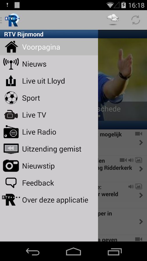 RTV Rijnmond - screenshot