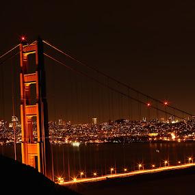 Golden Gate by Spencer Ziemer - Buildings & Architecture Bridges & Suspended Structures ( long exposure, night, golden gate, san francisco, city,  )