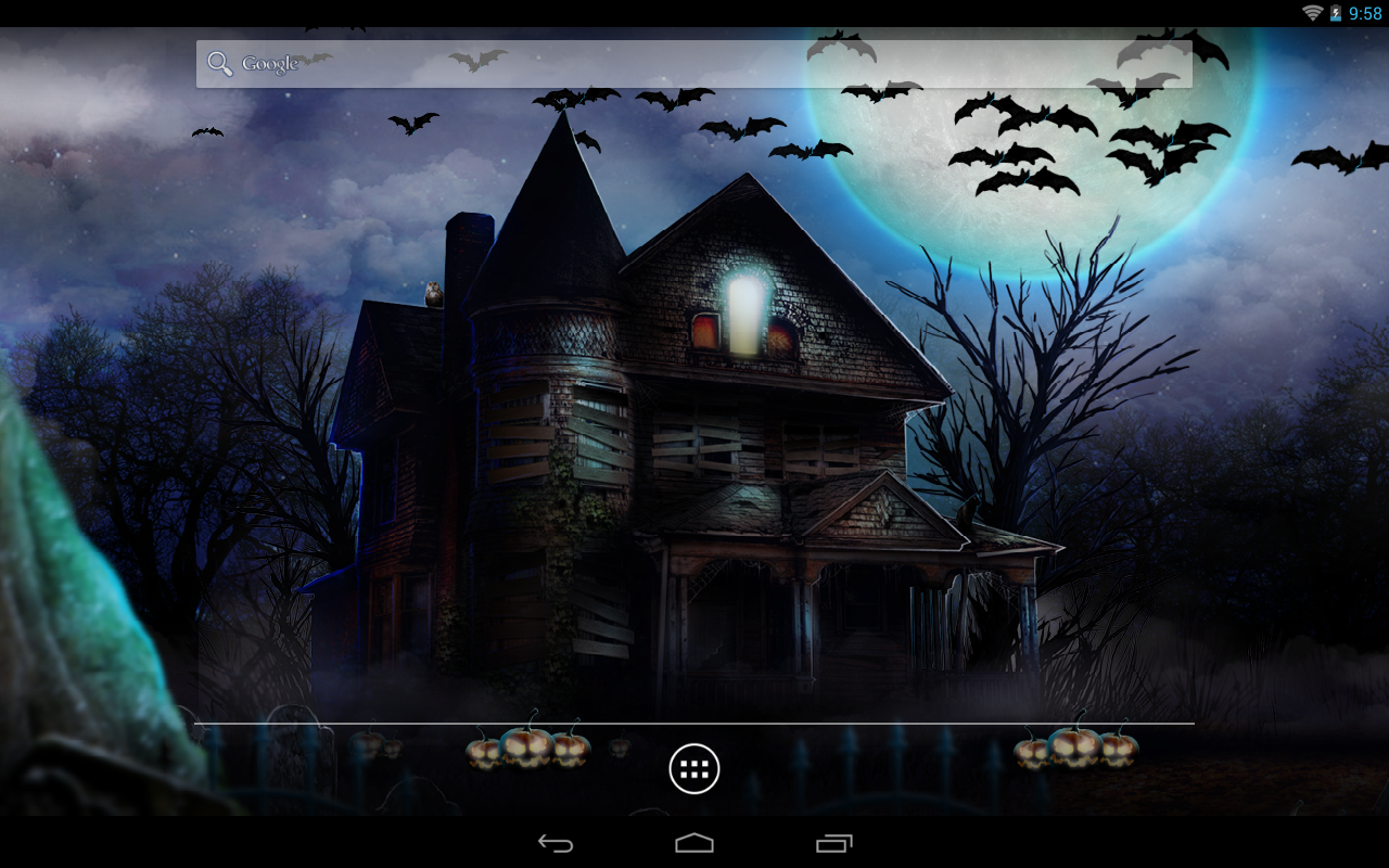 Halloween live wallpaper android apps on google play halloween live wallpaper screenshot voltagebd Images