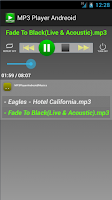 Screenshot of MP3 Player Andreoid
