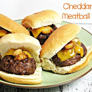 Cheddar Garlic Meatball Sliders