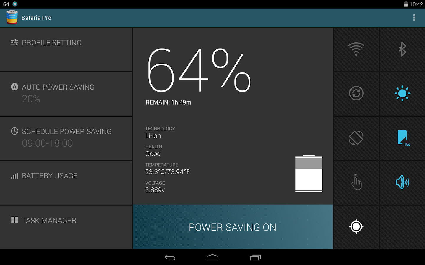 Bataria - Battery Saver - screenshot