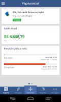 Screenshot of ZeroPaper, controle financeiro