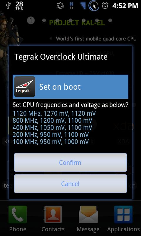 Tegrak Overclock Ultimate - screenshot