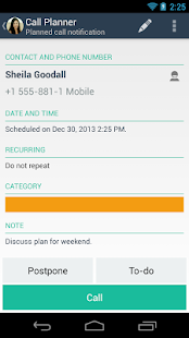 Call Planner- screenshot thumbnail