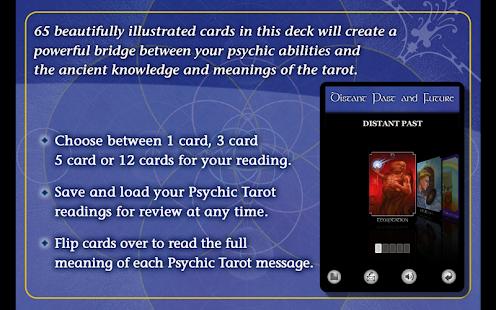 The Psychic Tarot Oracle Cards - screenshot thumbnail